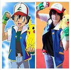 Hot Children Cosplay Pokemon Ash Ketchum Trainer Costume Shirt Jackets Halloween
