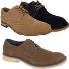 Mens Leather Faux Suede New Fashion Lace Up Ankle Boots Trainers Shoes Size Uk