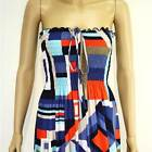 NWT S/M/L 8 10 12 NEW Strapless Gypsy Colorful Jersey Party Sexy Maxi Long Dress