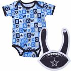 NEW! NFL Blue Dallas Cowboys Infant Baby Onesie Creeper & Bib Set - Shower Gift
