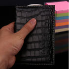 Durable Alligator embossing Passport Holder Protector Cover PU Leather Wallet JR