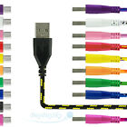 1 m3 - 1M&2M&3M Braided Fabric Micro USB Data & Sync Charger Cable Cord For Android New