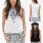 Sexy Womens Summer Casual Sleeveless T Shirt Chiffon Loose Vest Tank Top Blouse