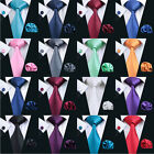 USA Solid Plain Mens Tie Set Silk 50 Colors Red Blue Black Green Necktie Wedding