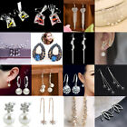 1 Pair Fashion Women Lady Elegant Crystal Rhinestone Dangle Ear Stud Earrings