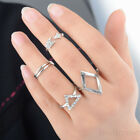 5pcs/set Fashion Mid Midi Punk Knuckle Ring Tip Finger Stacking Gold Silver new