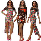 Fashion Women's sexy Summer Wear Boho Flower Casual Party Cocktail Mini Dress