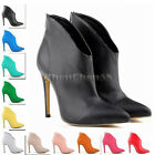 FASHION Ladies' Matte HIGH HEELS Shoes STILETTO CASUAL ANKLE BOOTS US SIZE 4-11