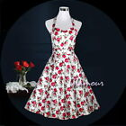 50s Style Bridesmaid Party Pinup Halter Party Swing Retro Dress