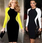 Sexy Womens Long Sleeve Slim Bodycon Club wear Party Cocktail Evening Mini Dress