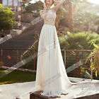 New Long Chiffon Lace Bridesmaid Backless Formal Evening Party Cocktail Dress ID