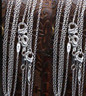 "Rolo Necklace Chain Silver Plated Metal 1mm 16"" 18"" 20"" 22"" 24'' Wholesale Price"