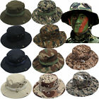 Mens Bucket Hat  Military Sun Camo Beanie Hat Casual Outdoor Cap Wide Brim Hot