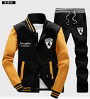 new men Full TrackSuit Jogging Top Bottom sport Suit sets outerwear Trousers