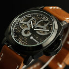 INFANTRY Mens Wrist Watch Luxury Mechanical Sport Leather Swiss Design Steampunk