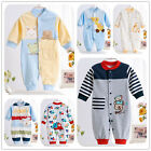 Newborn Baby Boy Clothes Cotton Romper Long Sleeve Jumpsuit Sleepsuits Sleepwear