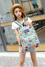 Women Girls Canvas Floral Backpack Book Bag Flower School Campus Student Bags