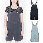 Women Washed Denim Jeans Casual Jumpsuit Hole Overalls Romper Short Pants