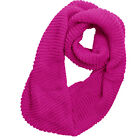Men NEW Knitting Textured Stretchy Winter Circle Scarf