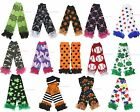 St Patrick Clover Halloween Skull Dot Star Camo girl cotton leg warmer legging