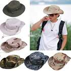 Fishing Hiking Snap Brim Army Boonie Military Neck Cover Flap Bucket Sun Hat Cap