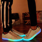 Fashion Mens Womens Lovers Night Light Couples Light Up Trainer Lace Up Shoes