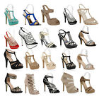 Damen Sandaletten High Heels Party Stilettos Schuhe 890148 Gr. 35-41