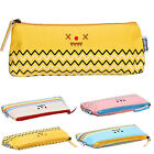 Students Canvas Stationery Pen Bag Pencil Case Cosmetic Makeup Bags Pouch Gifts