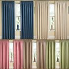 THERMAL BLOCKOUT TAPE CURTAINS PENCIL PLEAT CREAM PINK GREEN CREAM LATTE BLUE