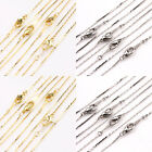 Lots 5/20Pcs Necklace Gold/Silver/White K Chain Round Clasp Jewelry Making 43cm