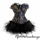 Sexy Lolita FANCY DRESS Corset Bustier & Tutu Skirt Set Halloween Costume