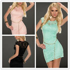 Sexy Lady Women Cute Cocktail Lace Bodycon Formal Dress Evening Party N189