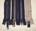 "3 - 10"" Indigo or Navy or Light Brown # 5 YKK Closed End PlasticTeeth Zippers"