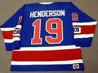 PAUL HENDERSON Toronto Toros 1974 WHA Vintage Throwback Hockey Jersey