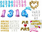 "16"" 40"" Foil Letter Number Balloons Helium Party Birthday Wedding Festival Decor"