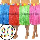 Hawaiian Fancy Dress Hula Grass Skirt Lei Flower Accessories Adult Costume
