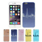 Transparent TPU For iPhone 6 4.7inch Polka Dot Eiffel Tower Rubber Case Cover