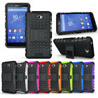 IDM Hybrid Protect Stand Impact Hard Armor Case Cover For Sony Xperia E4