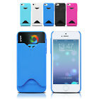 NEW Card Pocket Slot Hard Slim Case Cover for Apple iPhone 6S 6 | iPhone 5S 5