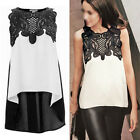 Fashion Women Summer  Chiffon Blouse Loose Casual Sleeveless Vest Shirt  Tops