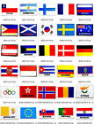 """National Nation Flag Emblem Iron On Patch Sew Embroidered Trim 2""""x3"""" Standard"""