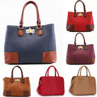 Ladies Women's Fashion Designer Vintage Handbag With White Cross Stitching Bags