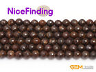 Wholesale Round Beads Natural Bronzite Facted Stone Beads For Jewelry Making DIY