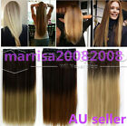 FULL HEAD ONE PIECE CLIP-IN HAIR PIECE EXTENSION SILKY STRAIGHT STYLE