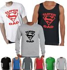 FUNNY SUPER DAD SUPERMAN FATHER'S DAY Men's T-Shirt Singlet size Aussie Store