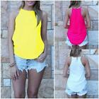 Fashion Womens Summer Vest Tops Sleeveless Blouse Casual Solid Tank Tops T-Shirt