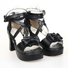 #8025B Sweet Gothic Punk KERA LOLITA shoes DOLLY Punk platform shoes 7.5cm heels