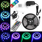 5M 3528 5050 RGB Leds SMD LED Strip Light Flexible DC 12V IR Controller Adapter