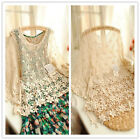 Fashion Women Floral Loose Crochet Sleeve Lace Sexy Tee Top Shirt Blouse