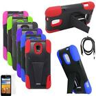 Phone Case For Straight Talk ZTE Unico Z930L LTE Cover Stand USB Charger Film